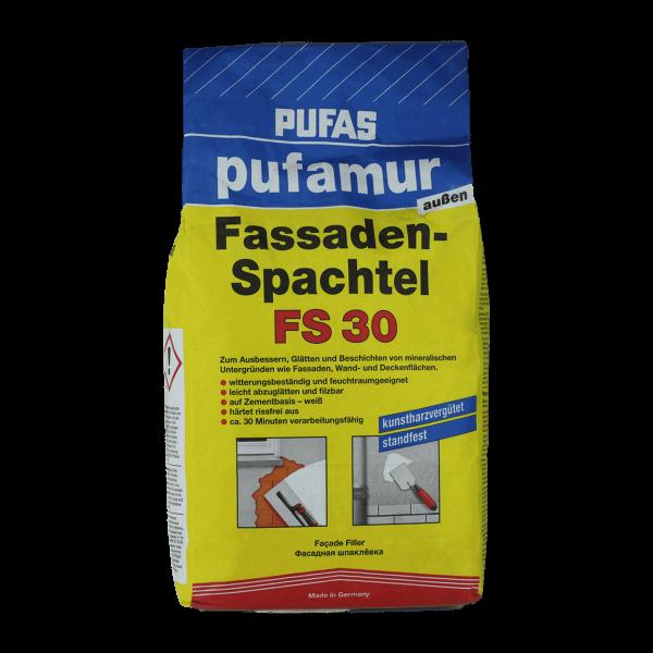 Pufas Zementspachtelmasse pufamur außen Fassaden-Spachtel FS 30 Vorderseite