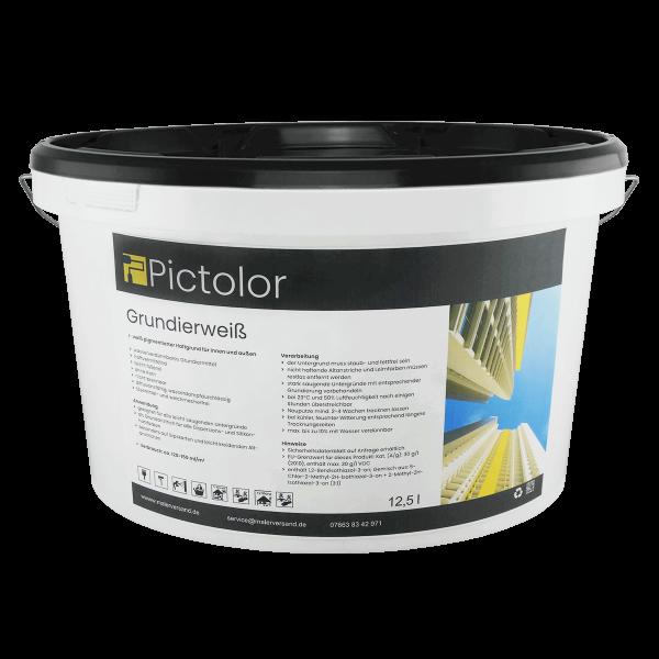 Pictolor Grundierfarbe Grundierweiß 12,5 Liter