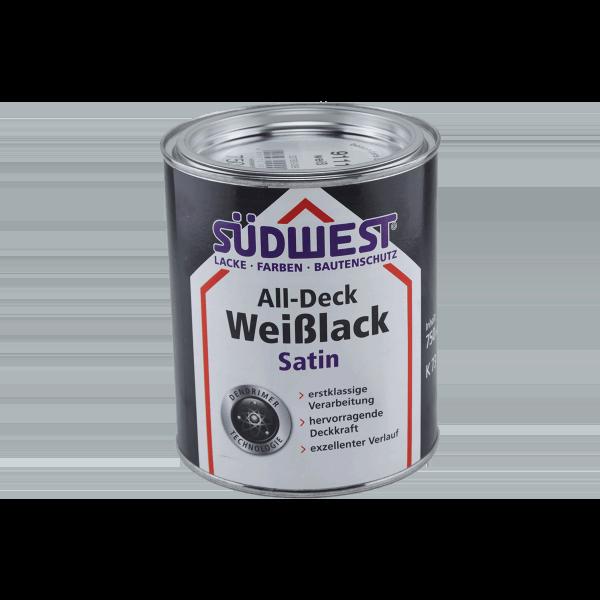 Südwest Seidenglanzlack All-Deck Weißlack Satin 0,75 Liter