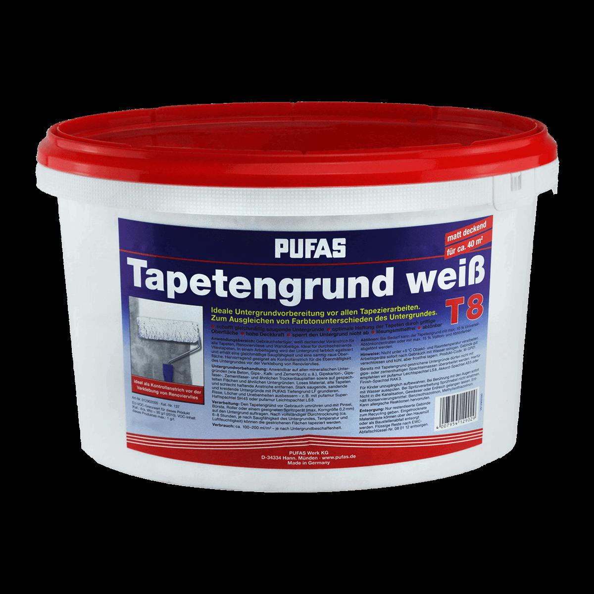 pufas voranstrich tapetengrund t8 weiß günstig kaufen | malerversand
