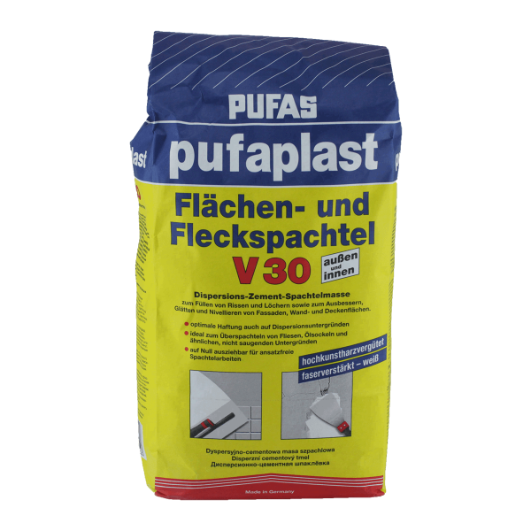 Pufas ZementSpachtelmasse Pufaplast V Flächen Und Fleckspachtel - Spachtelmasse fliesen überspachteln